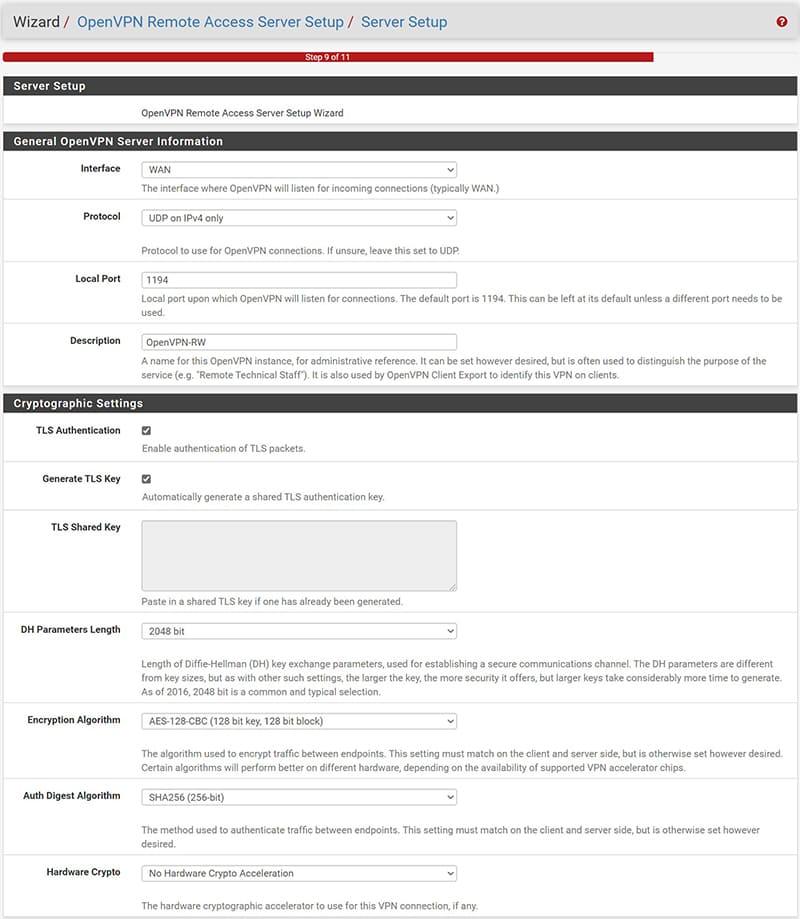 pfSenseOpenVPN Configurazione VPN Road Warrior-4